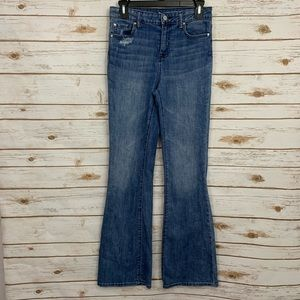 Gap High Rise Flare Distressed Jeans